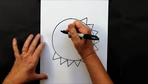 how to draw a cartoon sun step by step easy drawing tutorial for