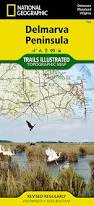 Cape Henlopen State Park Map by Delmarva Peninsula National Geographic Trails Illustrated Map