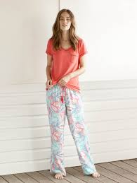 relax in bold colours in our contrast pj top and our print pj