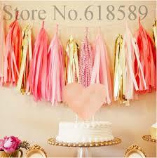 in party supplies 14 inch 5x tissue tassel garland paper banner party supplies diy