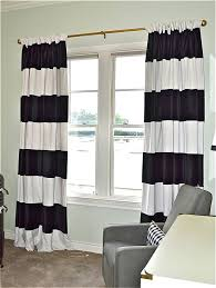 Gold Striped Curtains Black White Striped Curtains Home Designs Idea