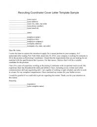 sample cover letter for recruiter position letter cover page 12