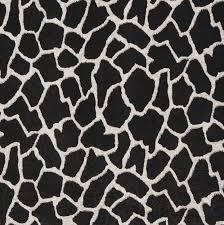 ebony black and white giraffe faux animal print microfiber machine