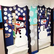 snowman classroom door decor for winter classroom holidays