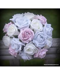 silver roses silver stunning bridesmaid bouquet of pink and silver roses