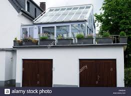 conservatory built over a garage leichlingen north stock photo