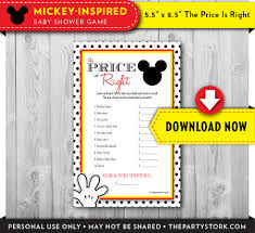 mickey mouse baby shower game mickey mouse price is right