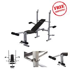 weight bench standard gym multi workout home set press fitness