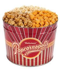 popcornopolis gourmet popcorn 2 gallon tin classic