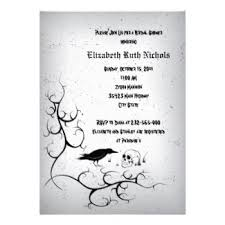 Gothic Halloween Wedding Party Invitation by Halloween Bridal Shower Invitations Seasonal Showers