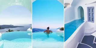 hotel piscine dans la chambre les incroyables piscines cachées de villas à santorin