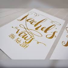 wedding vow cards customised wedding vow cards design craft artwork on carousell