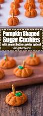 Pumpkin Shaped Sugar Cookies Without A Cookie Cutter Eating Richly
