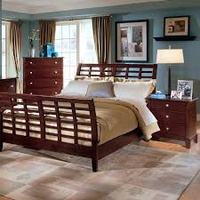 Wood Sleigh Bed Statuette Of Feel Ultimate Comfort With Cherry Wood Sleigh Bed