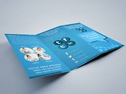 social media tri fold brochure template graphicriver print templates