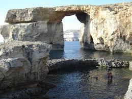 azure window gozo island malta on the map