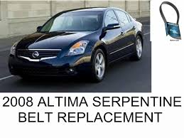 2010 nissan altima coupe youtube how to replace serpentine belt 2008 nissan altima youtube