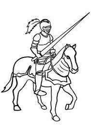 knights dragons coloring pages horse carriage circus