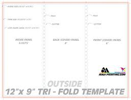 fold brochure template printing company inc 12 x 9 roll fold brochure template