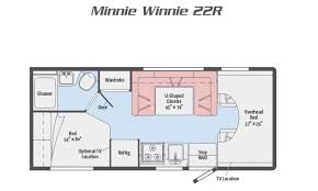 Type B Motorhome Floor Plans 2018 Minnie Winnie Class C Motorhome By Winnebago Rv