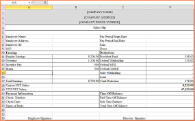 6 format of salary statement in excel sales slip template