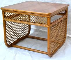Heywood Wakefield Bamboo by Rattan End Table Bamboo Home Table Decoration