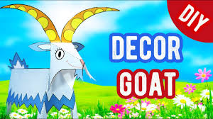 diy room decor how to make goat paper craft and art ideas for