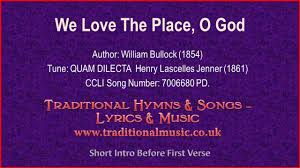 A Place Hymn We The Place O God Mp731 Hymn Lyrics