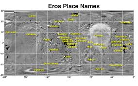eros map images of asteroid and comets
