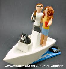 boat cake topper and groom on boat wedding cake topper custom wedding cake
