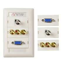 home theater wall plate ge ultra pro 1 brush white wall plate 87697 the home depot