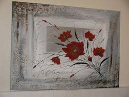 Tableau Triptyque Contemporain by Tableau Contemporain Gris Et Rouge La Peinture En Abstrait