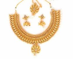 indian bridal necklace sets images South indian bridal jewellery one gram gold plated bridal jpg