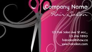 hair salon business cards girly hair salon business cards page 1