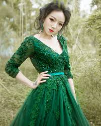 green wedding dress 2016 luxury green wedding dress sleeve backless v neck