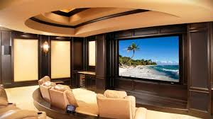 backyard small media room design crown molding excellent
