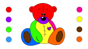 how to draw teddy bear coloring pages for kids children toddlers