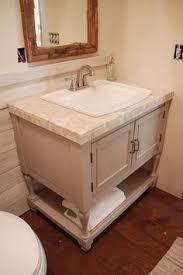 Building A Bathroom Vanity How To Raise Up A Short Vanity Raising Vanities And Builder Grade