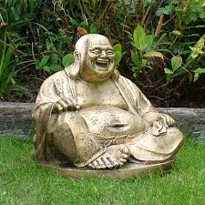 gold laughing buddha statue sculpture garden ornament s s shop