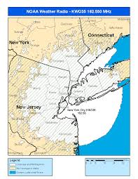 New York City Area Code Map by Noaa Weather Radio Kwo35