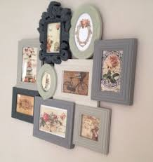 shabby chic vintage photo picture frames multi frame period grey