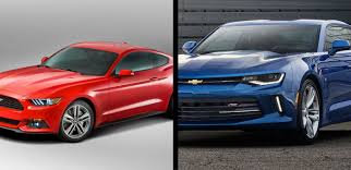 ford mustang chevy camaro to 2017 ford mustang vs 2017 chevrolet camaro