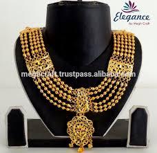 gold rani haar sets rani haar bridal imitation jewelry wholesale gold plated bridal