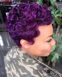 natural short hairstyles for african american woman is best choice that you apply 40 versatile ideas of purple highlights for blonde brown and red hair