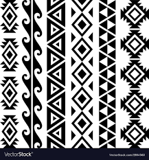 aztec tribal seamless pattern designs royalty free vector