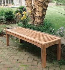 new teka garden bench two seater without back rest teak outdoor