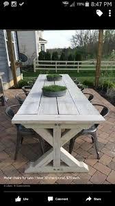 Outside Patio Table Farmhouse Table For Outside Deck Pinterest Farmhouse Table
