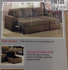 Sleeper Sofa With Storage Chaise Futon Sofa Bed Costco 1025theparty