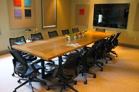 Oak Meeting Table Metal Base Conference Table Braylon Desk Atlanta