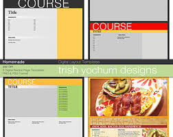 recipe template etsy